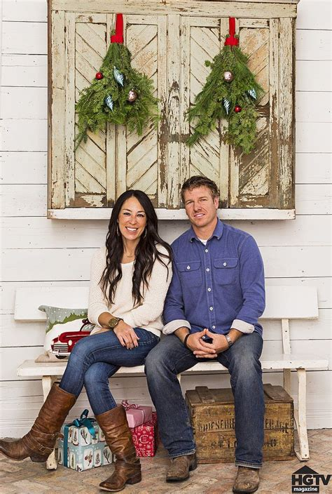 see how hgtv stars chip joanna gaines decorate for the holidays see how chip and joanna gaines deck out their farmhouse