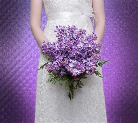 Wedding Bouquet Lilac by Bridal Bouquet Lilac Lavender Purple Silk Wedding Flowers