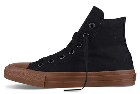 Sepatu Converse All Chuck Ii Black Sole Gum converse chuck ii gum high top black canvas all shoes