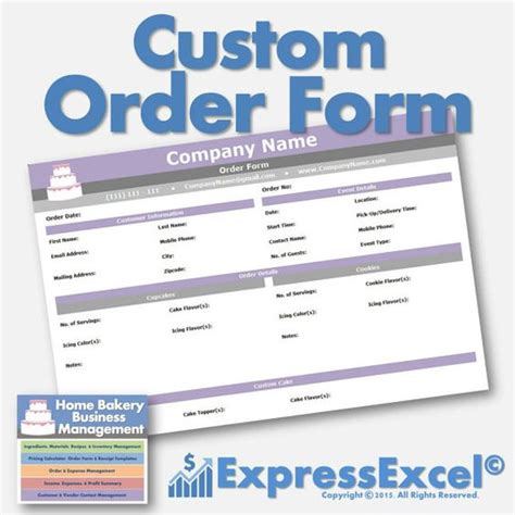 Cake Order Receipt Template by The World S Catalog Of Ideas