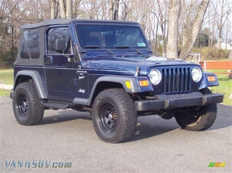 2000 Jeep Sport Transmission 2000 Jeep Wrangler Sport 4x4 In Patriot Blue Pearl