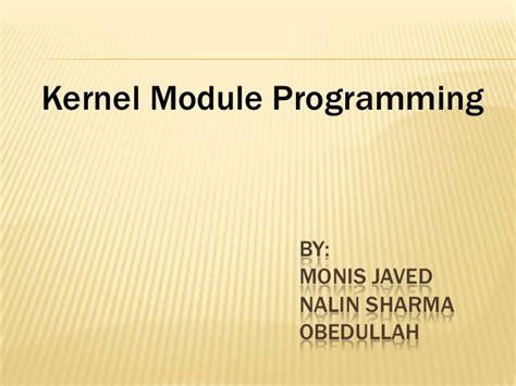 tutorial linux kernel programming linux kernel programming