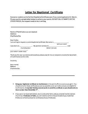 baptismal certificate request letter sle letter requesting baptism certificate image