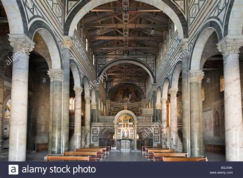 san miniato firenze interior of the church of san miniato al monte on the
