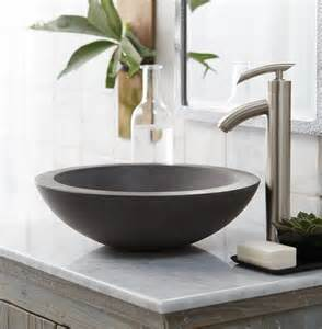 bathroom sinks bowls stylish concrete sinks designed to energize the kitchen