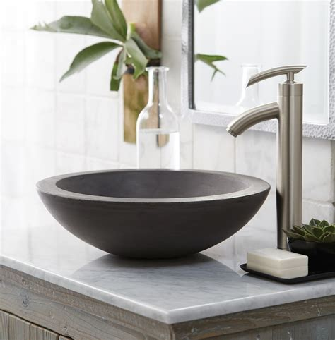 bowl sink for bathroom stylish concrete sinks designed to energize the kitchen