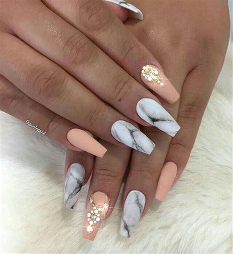 matte colored nails matte acrylic nails in a marble and color with