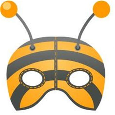 printable bee mask template 1000 images about play costumes masks on pinterest