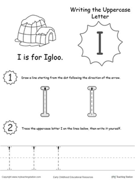 sle of kindergarten writing igloo letter i worksheets for preschool igloo best free printable worksheets