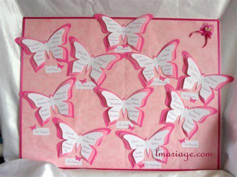 plan de table papillon plan de table papillon fushia mariage