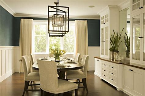 built in buffet cabinet with grass grasscloth wallpaper elegant dining room with teal blue grasscloth wallpaper