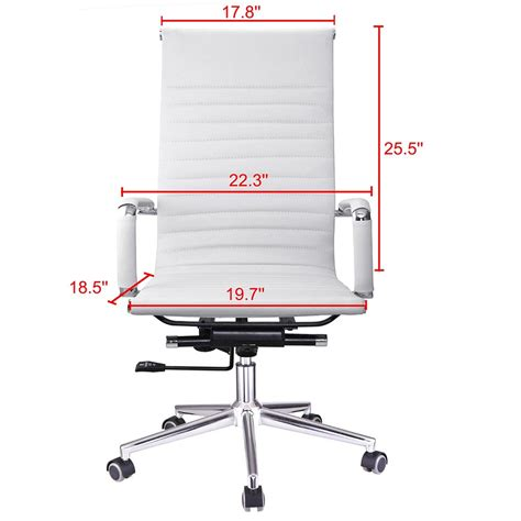 Ergonomic High Back Pu Leather Office Chair Computer Desk Ergonomic Home Computer Desk