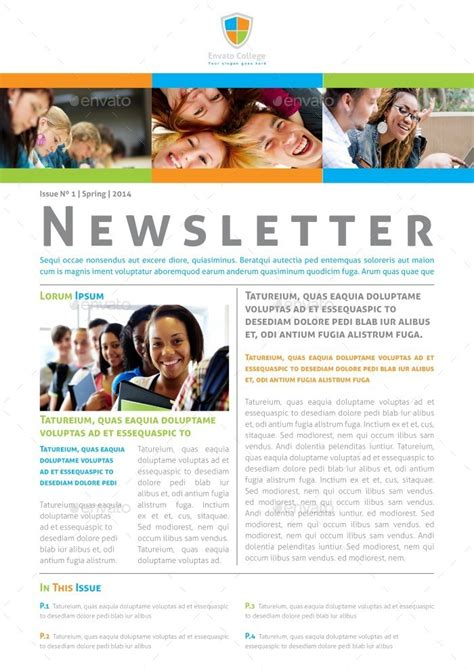 educational newsletter templates educational newsletter template by carlos fernando
