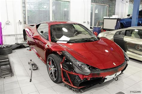 chrome ferrari ferrari 458 red chrome from russia autoevolution