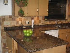 Kitchen Backsplash With Granite Countertops Baltic Brown Granite Kitchen Best Kitchen Places