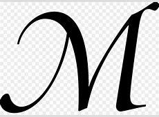 Cursive Letter Alphabet M Font - others 1024*716 ... Free Black And White Clip Art Letters