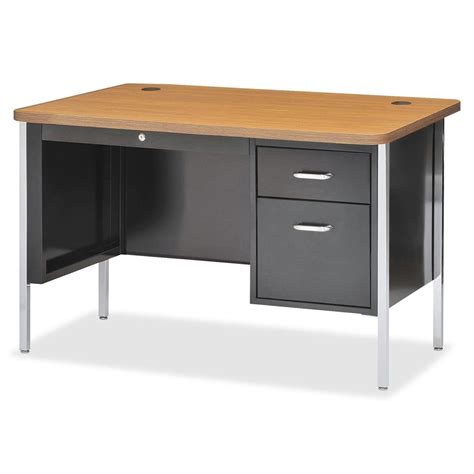 desk 48 inches wide lorell fortress series single ped teacher s desk 30