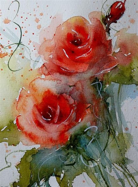 Painted L by Quot Roses Quot Original Watercolor By L Strohschein Sold