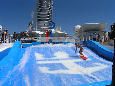the freedom of the seas latin and english version royal caribbean freedom of the seas 174 flowrider the