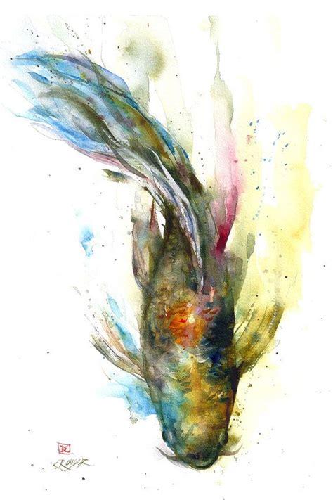 watercolor tattoo koi fish koi original watercolor painting by dean crouser