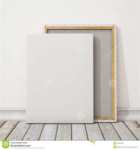 canva mockup mock up blank canvas or poster with pile of canvas on