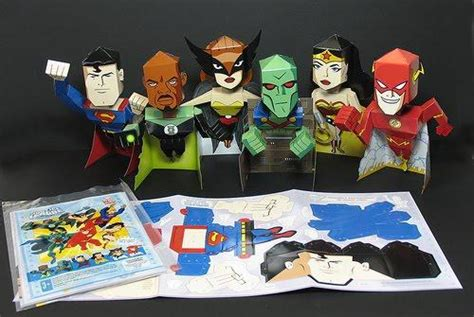Serves Up Papers To by Arby S Serves Up Justice League Paper Toys Speak