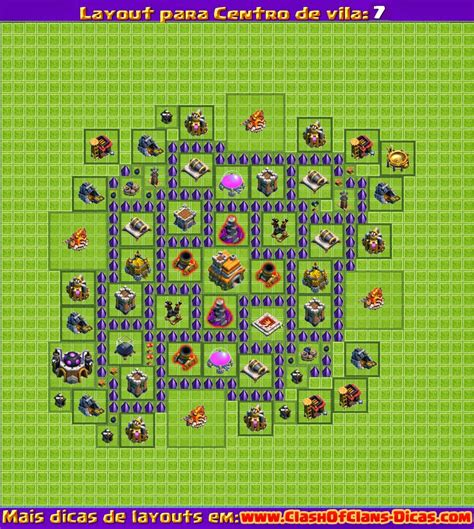 layout cv 7 melhores layouts para clash of clans centro de vila n 237 vel