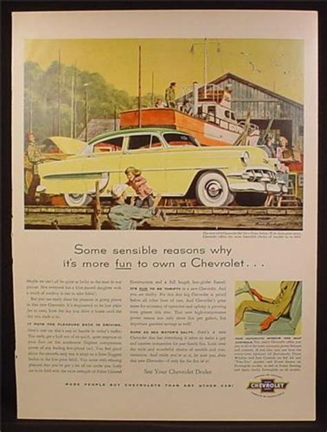 The Environmental Ad Caign Fronted By A Sultry Mills by Magazine Ad For Chevrolet Bel Air 4 Door Sedan Yellow