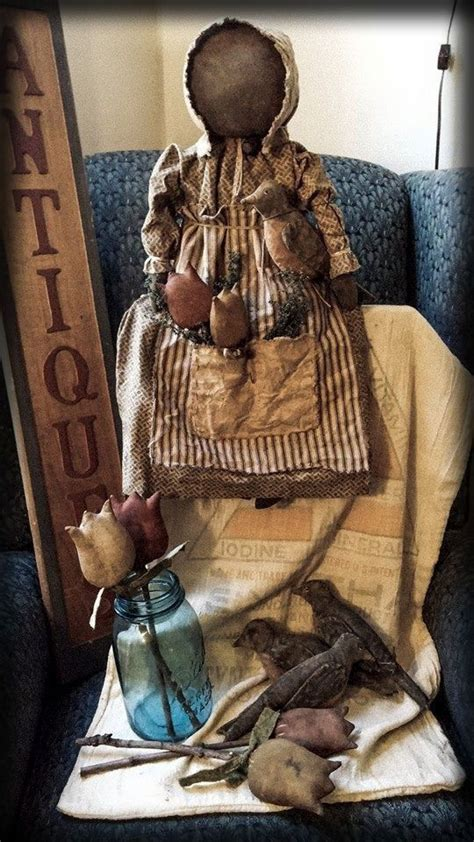 Handmade Primitive Dolls - 22 best images about primitive rag dolls on