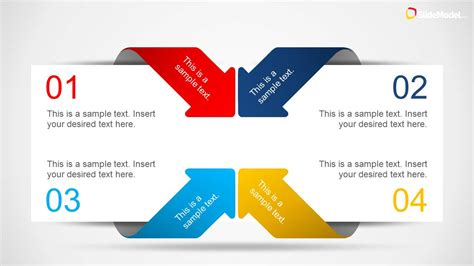 Creative 4 Item Layout Template For Powerpoint With Arrows Ppt Layout