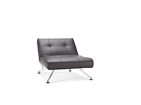 Contemporary Tufted Black Leather Sofa Bed On Chrome Legs Black Leather Sofa With Chrome Legs