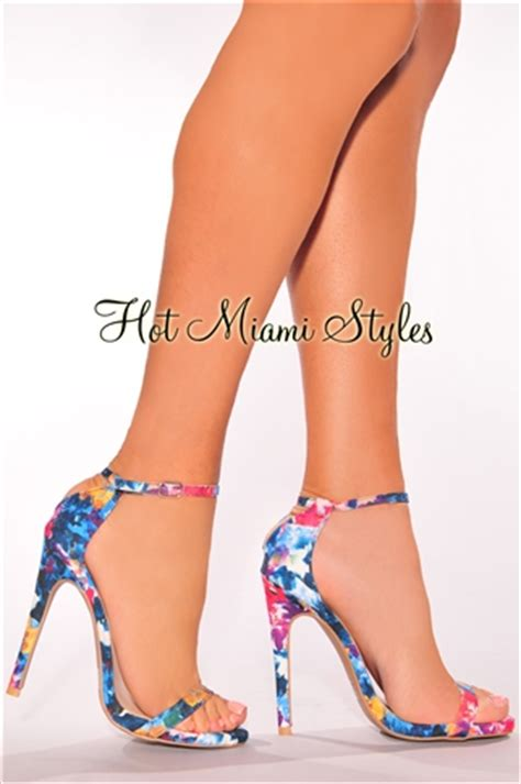 multi colored high heels blue multi color high heels
