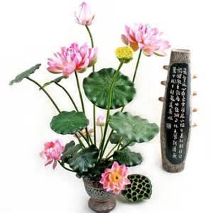 Lotus Flower Arrangement Artificial Flower Flowers Roses Florists Singapore