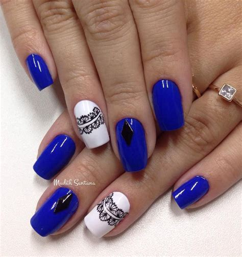 Nagel Ideeën by 81 Cool Royal Blue Nail Design Ideas For Trendy