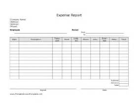 printable expense report template expense report template