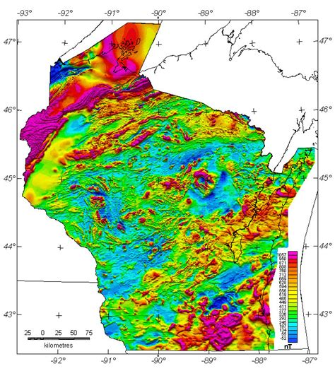 america magnetic anomaly map wisconsin aeromagnetic and gravity maps and data