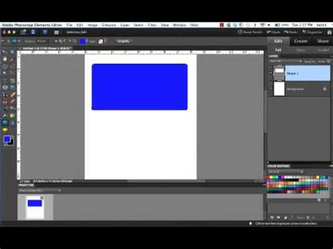tutorial photoshop newbie tutorial on photoshop elements 10 for beginner shapes