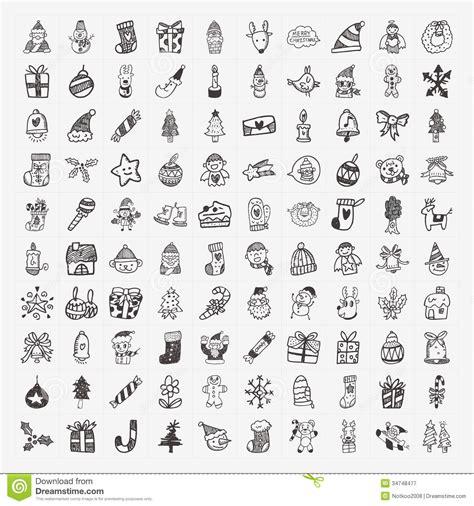 free doodle icon set 100 doodle icon set royalty free stock