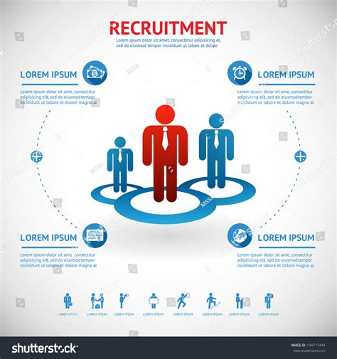 Vector Recruitment And Human Resource Infographics Template With Space For Text 194717444 Recruiting Text Templates