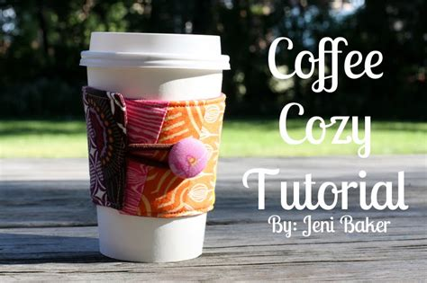 Coffee Cozy Tutorial Coffee Cozy Template
