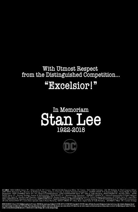 DC Entertainment Release Comic Book Tribute To Stan Lee