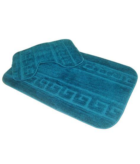 Teal Bath Mat by Krishna Carpets Teal Bath Mat Set 2 Pcs Buy Krishna