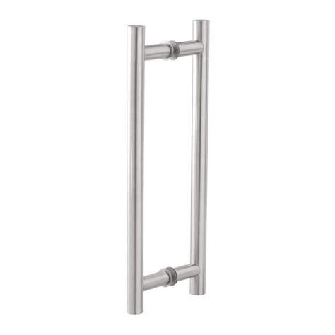 Glass Door Pull Handle H Type 32mmX600mm SS202 Innotec