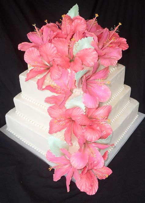 Hibiscus Flower Cake Decoration by Hibiscus Wedding Cake Cakecentral