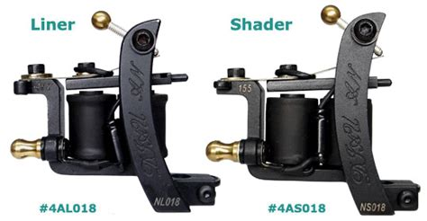 tattoo machine liner and shader difference 4al018 4as018 diauan cast quot steel quot tattoo machines