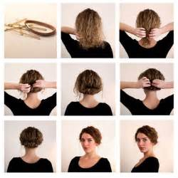 hairstyles for curly medium hair step by step short hairstyles awesome simple hairstyles for short hair