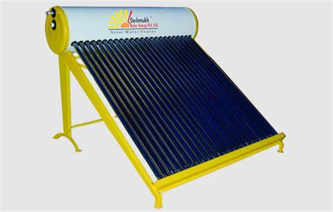 Solar Panel Water Heater solar water heater deshmukh solar energy pvt ltd