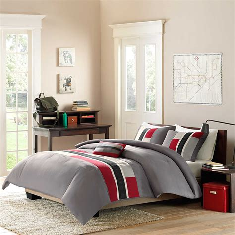 red bedroom comforter set red and beige cream bedding ease bedding with style