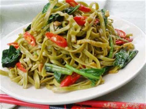 cara membuat mie goreng vegetarian resep masakan mie hijau kuliner indonesia