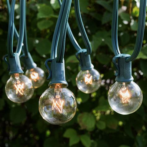 clear globe string lights clear globe commercial string lights 100